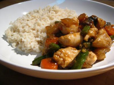 Chicken Sriracha Stir Fry - I made this last night but for veggies I ...