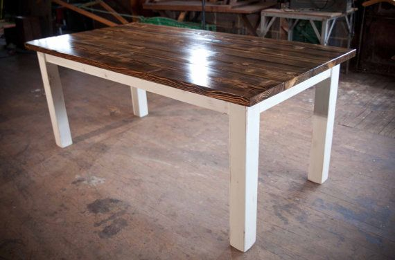 Classic 6ft Farmhouse Table Kitchen Table Dining Table By