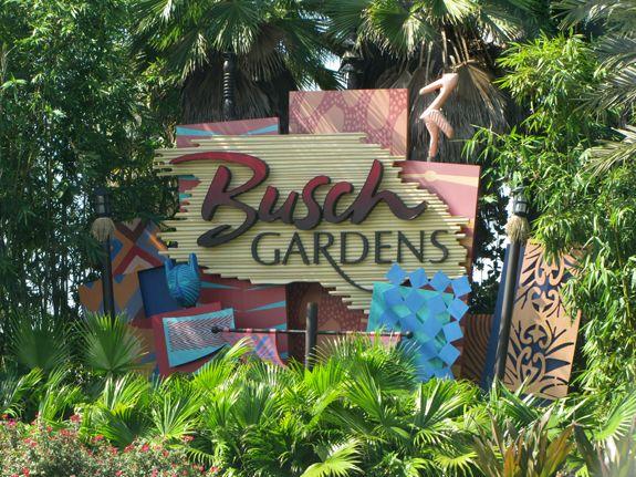 Entrance Sign Busch Gardens Tampa Pinterest