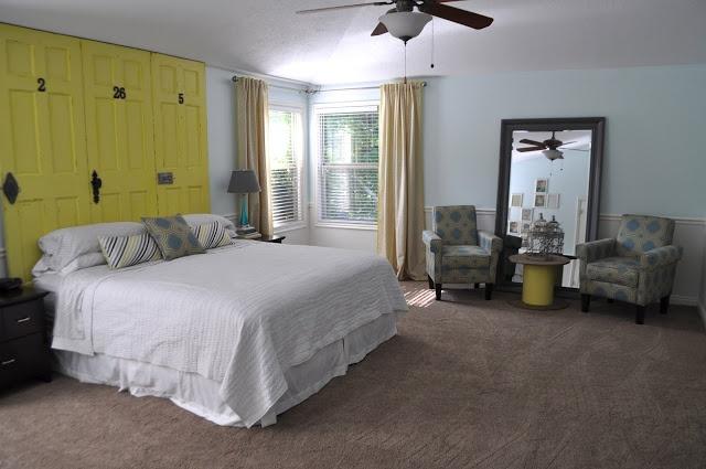 Yellow Gray And Aqua Blue Bedroom Random Me Pinterest