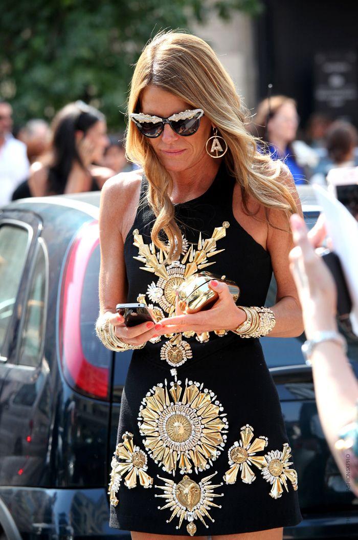 la modella mafia Anna Dello Russo fashion editor street style Spring 2013 Fausto Puglisi and H Accessories