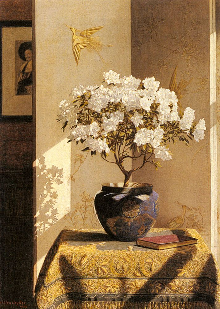 Jessica Hayllar (1858-1940) — A Sunny corner, 1909  (713x1000)