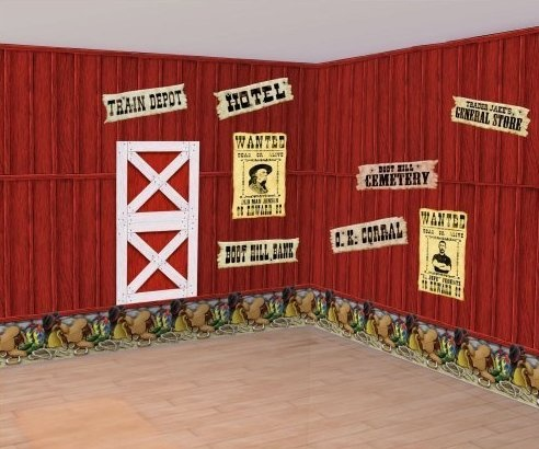 Grange rouge western party pinterest for Decoration western country