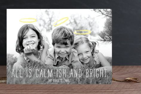 """All is calm-ish and bright."" Ha."