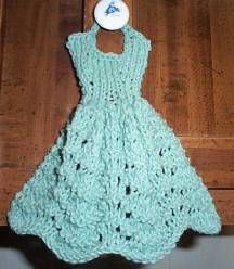 Knit dishcloth dress pattern Project Ideas Pinterest