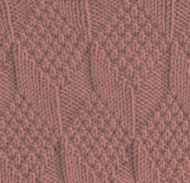 diamonds and lozenges square # free # knit # knitting # pattern