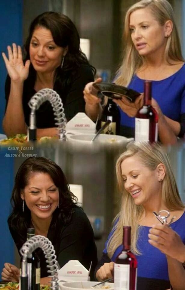 Grey anatomy callie and arizona