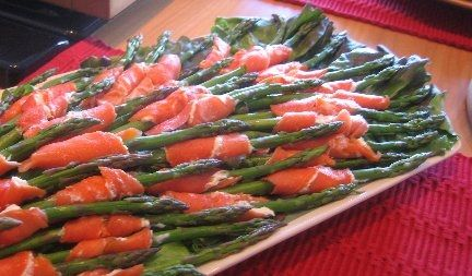 Roasted asparagus wrapped in prosciutto. | Cooking | Pinterest