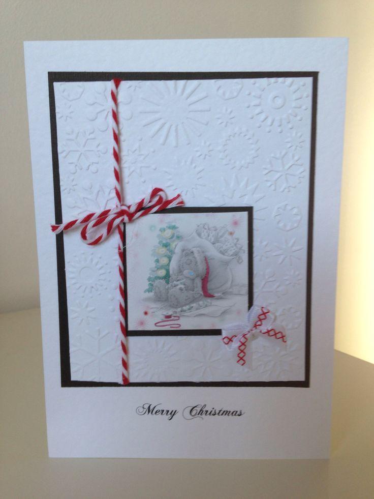 Handmade christmas card handmade by me pinterest for Handmade christmas cards pinterest