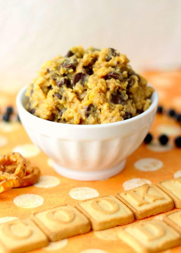 that this is not cookie dough but a healthy dippable version # healthy ...