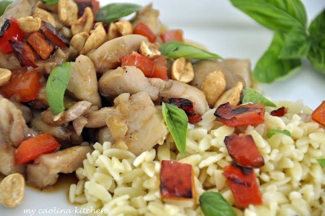 Spicy basil chicken and rice.   Yum... Gettin' Hungry Yet???   Pinter ...