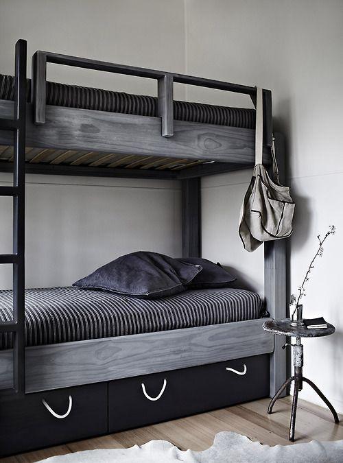 Gray Loft Beds : Gray bunk bed via est magazine home