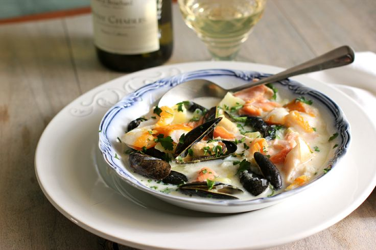 Smoked Haddock, Salmon and Mussel Soup | Soup+Salad | Pinterest