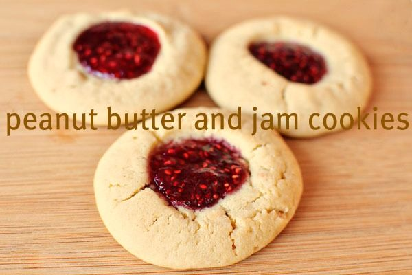 peanut butter and jam cookies | Recipes To Try | Pinterest