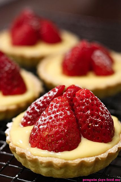 Strawberry Tarts 01 by jacq @ penguin says feed me, via Flickr