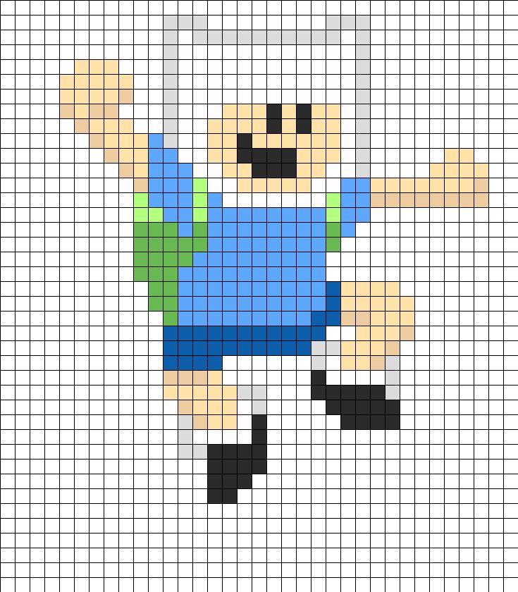 8 Bit Finn bead pattern