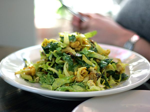 INDIAN CHOPPED CHICKEN SALAD with curried cauliflower, spinach, yogurt ...