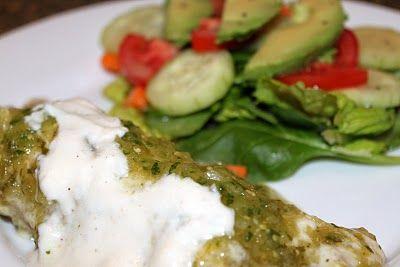 ... Next Door: Healthy Eating Chicken, Black Bean and Spinach Enchiladas