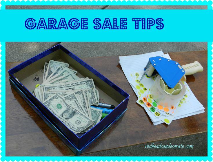 Garage Sale Tips | My Style | Pinterest