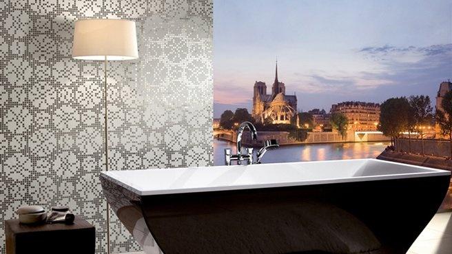 De la mosaïque dans la salle de bains tableau + mosaiqué ...