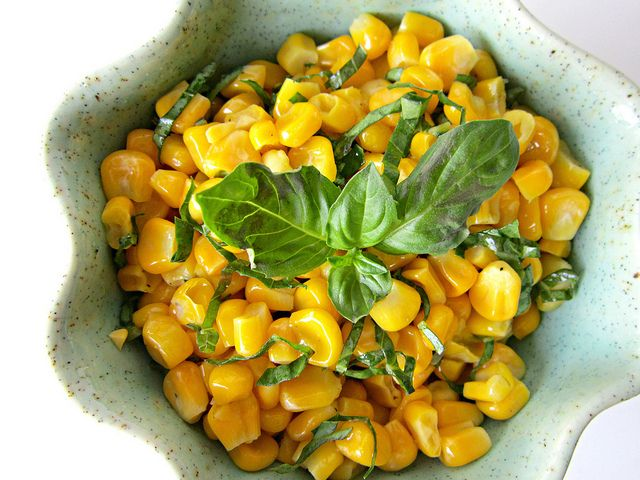 Corn and Basil Salad (2) by Sweet Beginnings Blog, via Flickr