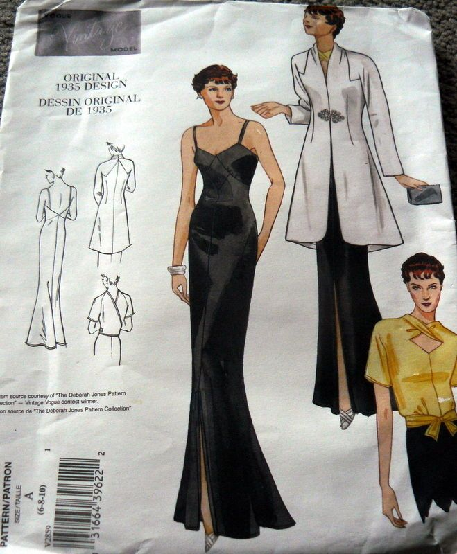 1930s vogue vintage model evening dress coat amp blouse sewing pattern 6