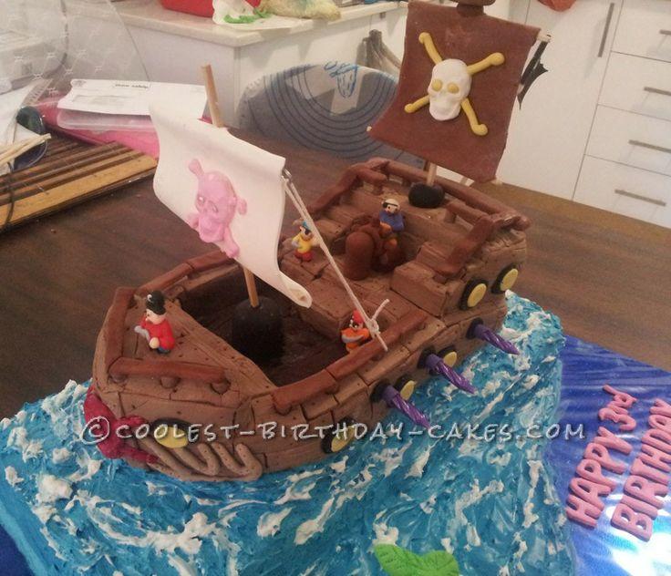 homemade pirate cake