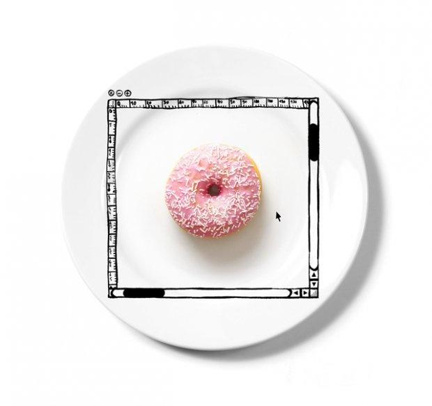 Image Size the Donut: Photoshop-inspired plates