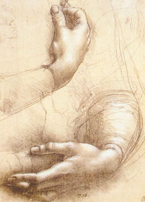Hands b y DaVinci (repinned from @)