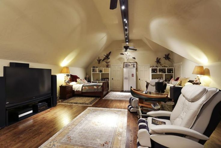 Man Cave With Loft : Attic theater room dream house pinterest
