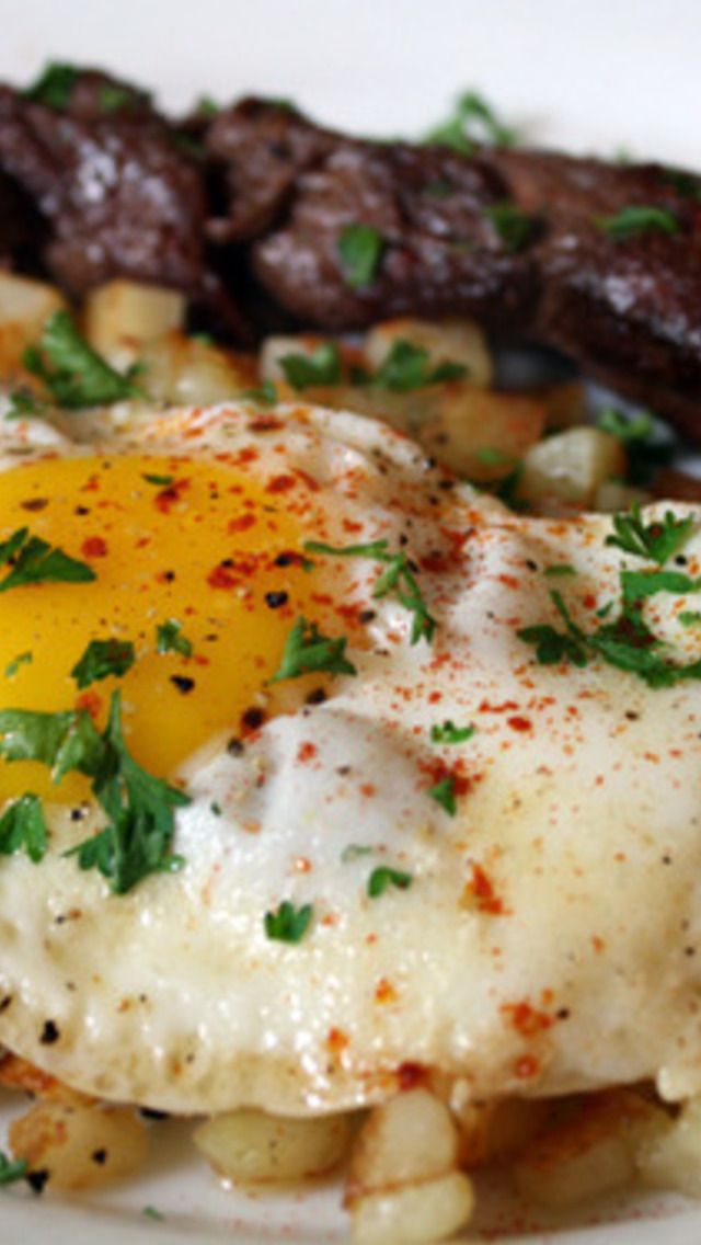 Steak and Eggs with Smoked Paprika | Yum | Pinterest