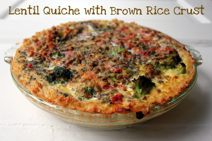 Lentil Quiche with Brown Rice Crust   pies & pastry   Pinterest