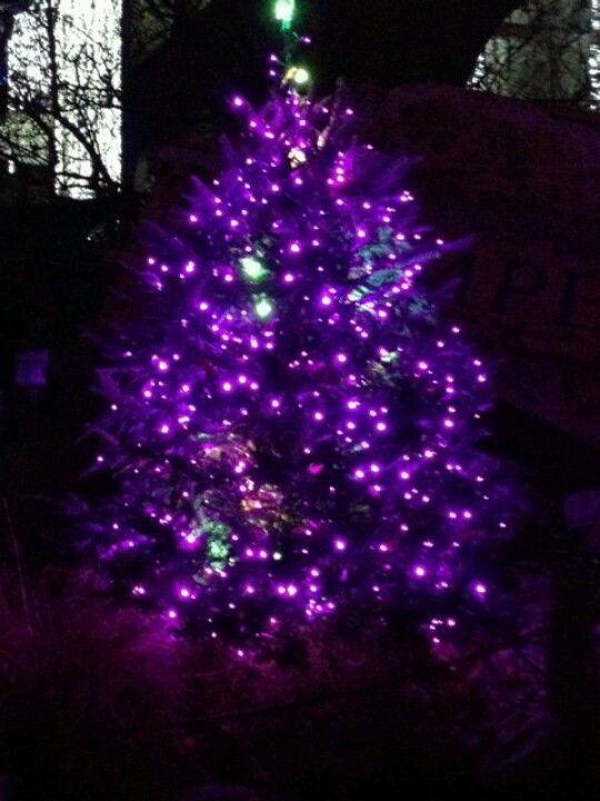 purple christmas tree christmas pinterest