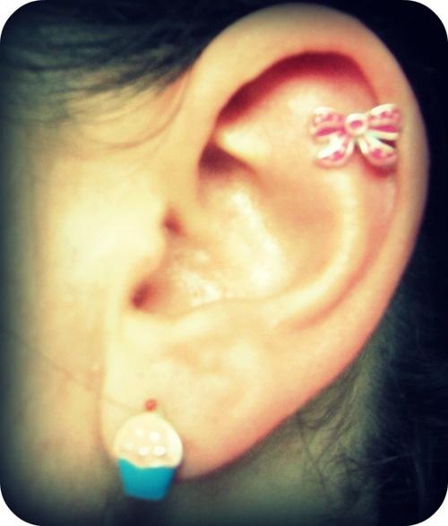 My cartilage piercing