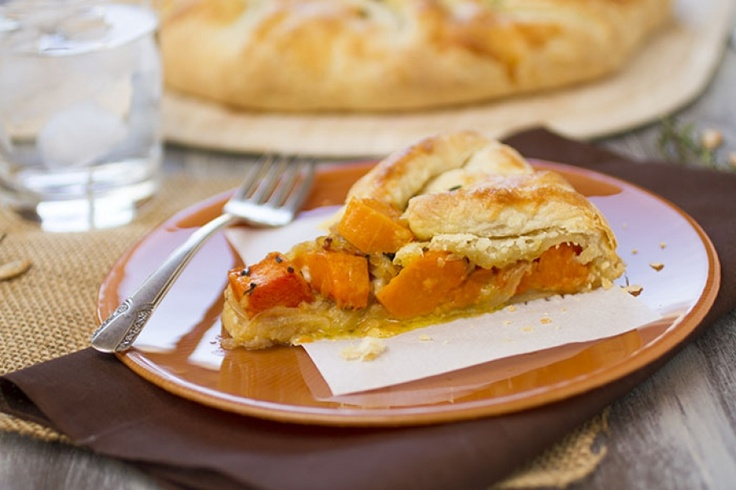 The Green Beet: Butternut Squash & Caramelized Onion Galette # ...