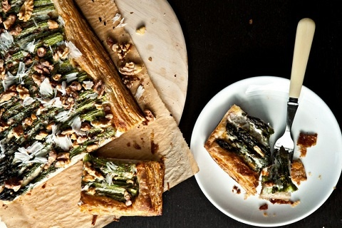 Asparagus Tart with Walnuts and Parmesan (from not without salt)