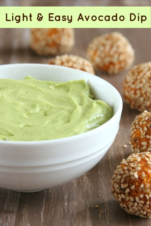 Light & Easy Avocado Dip...the most versatile condiment you'll ever ...