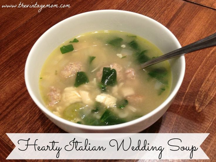 Hearty Italian Wedding Soup {Recipe} | Soup | Pinterest