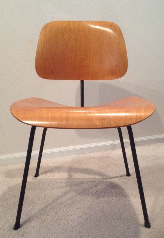 vintage 1950 39 s herman miller dcm birch dining desk chair eames mcm er