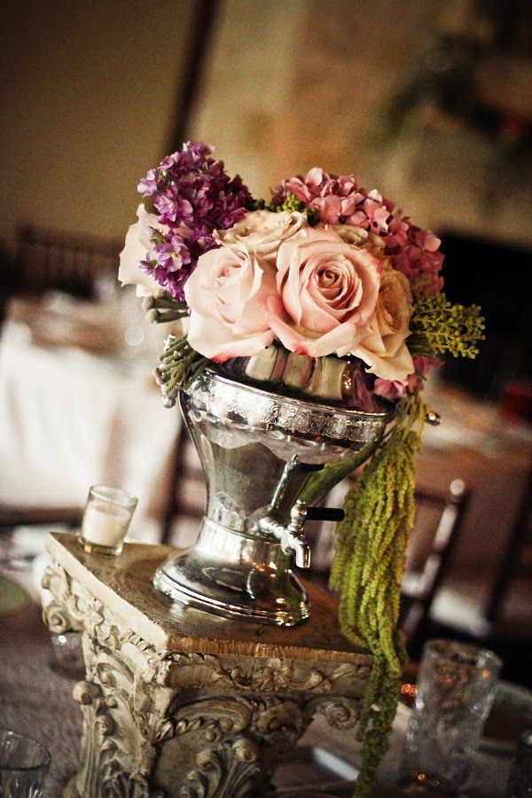 Vintage wedding centerpiece cinderella days pinterest