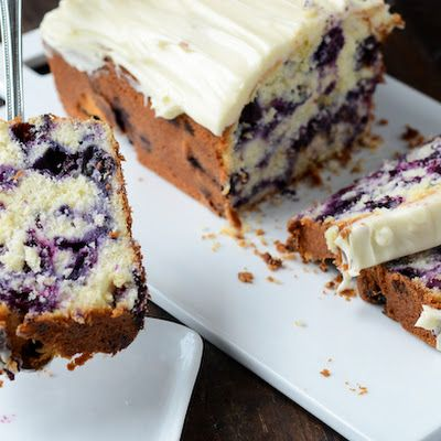 Blueberry Lime Cream Cheese Pound Cake | recipes to try | Pinterest