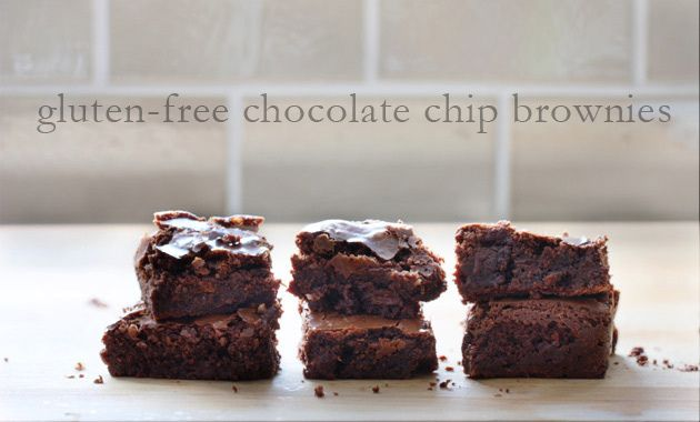 fudgy gluten-free chocolate chip brownies. @Nadjia Kitchen - don't ...
