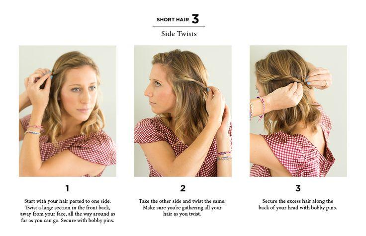 10 Quick Ways to Style Long & Short Hair Hot Hair Pinterest