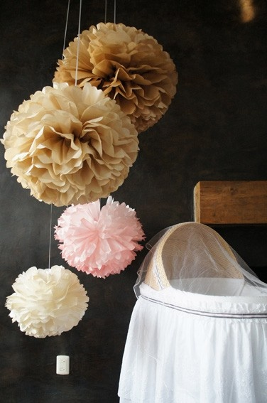 Nursery Paper Tissue Pom Poms