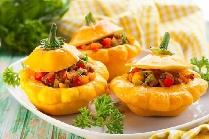 Stuffed Baby Squash | Recipes that I love | Pinterest