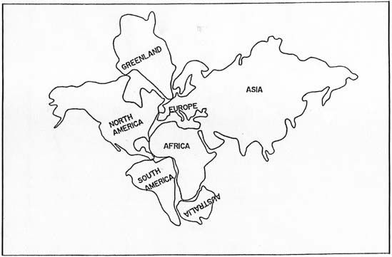 Pangea Map Puzzle Worksheet Sketch Coloring Page