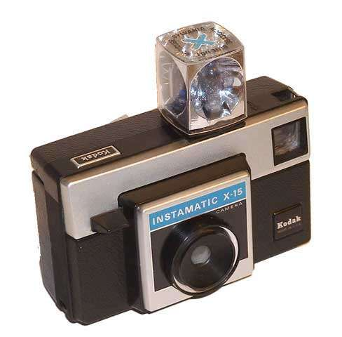 Kodak Instamatic Camera with disposable flash cube and cartridge film. Cutting edge for its time.