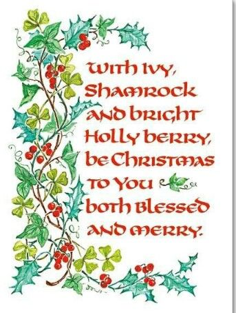 Irish Christmas blessing  Irish Sayings, Blessings and Proverbs  Pi…