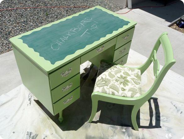 DIY: Chalkboard Desk