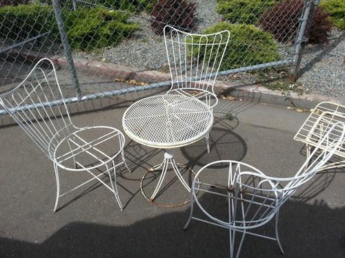 rare vintage mid century homecrest patio set lounge small. Black Bedroom Furniture Sets. Home Design Ideas